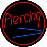 Round Piercing LED Neon Sign
