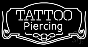White Tattoo Piercing LED Neon Sign