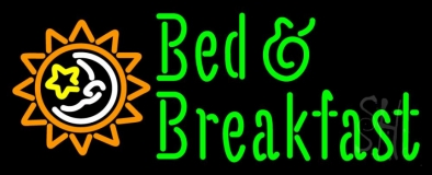 Bed And Breakfast With Sun Logo LED Neon Sign