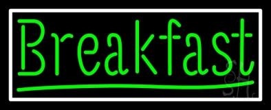 Green Breakfast LED Neon Sign