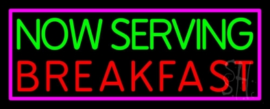Now Serving Breakfast LED Neon Sign