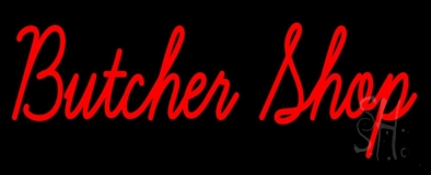 Red Butcher Shop LED Neon Sign
