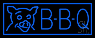 Blue BBQ LED Neon Sign