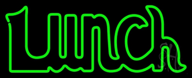 Green Double Stroke Lunch LED Neon Sign