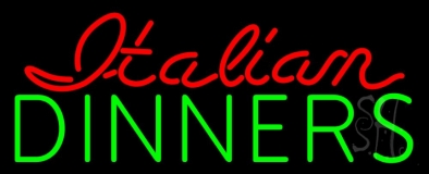 Italian Dinners LED Neon Sign