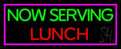 Now Serving Lunch LED Neon Sign