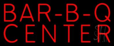 Red Bar B Q Center LED Neon Sign
