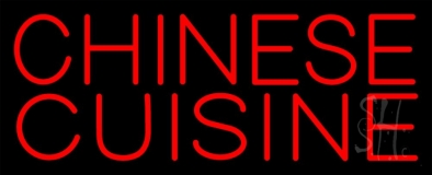 Red Chinese Cuisine LED Neon Sign