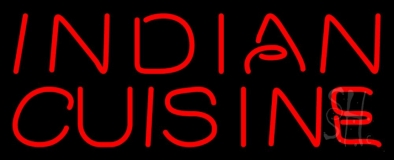 Red Stylish Indian Cuisine LED Neon Sign