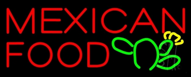 Mexican Food Logo LED Neon Sign