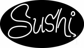 Oval Sushi LED Neon Sign