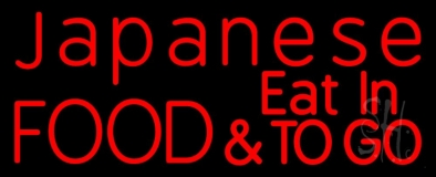 Red Japanese Food And Eat In To Go LED Neon Sign