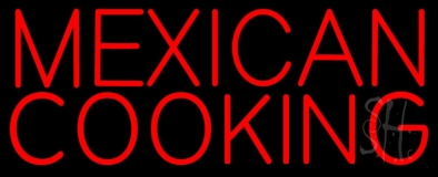 Red Mexican Cooking LED Neon Sign