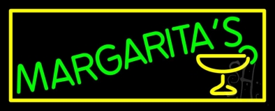 Margaritas With Glass Logo LED Neon Sign