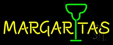 Margaritas With Wine Glass LED Neon Sign