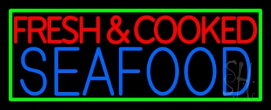 Fresh And Cooked Seafood LED Neon Sign