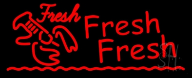 Red Fresh Fresh Lobster Seafood LED Neon Sign