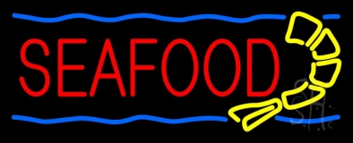 Red Seafood LED Neon Sign