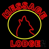 Custom Made Double Stroke Red Lodge LED Neon Sign
