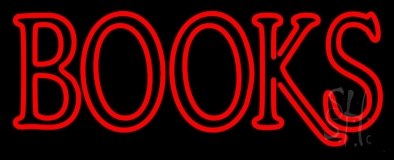 Double Stroke Books LED Neon Sign