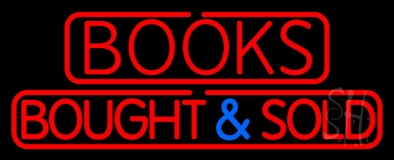 Red Books Bought And Sold LED Neon Sign