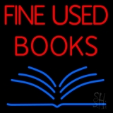 Red Fine Used Books LED Neon Sign