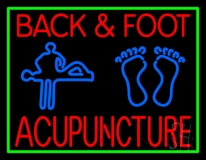 Back And Foot Logo Acupuncture LED Neon Sign