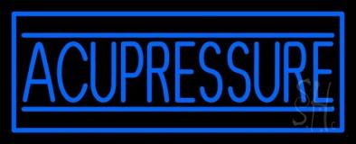 Blue Acupressure LED Neon Sign