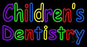 Childrens Dentistry LED Neon Sign