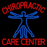 Chiropractic Care Center Human Logo LED Neon Sign