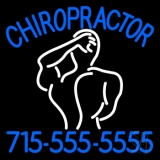 Chiropractor Logo With Number LED Neon Sign
