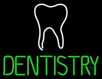 Dentistry With Tooth Logo LED Neon Sign