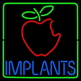 Implants With Apple Logo LED Neon Sign