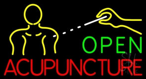 Open Acupuncture Logo LED Neon Sign