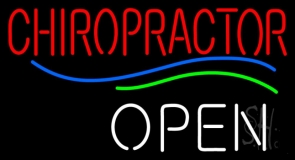 Red Chiropractor Open LED Neon Sign