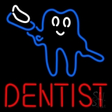 Tooth Logo With Brush Dentist LED Neon Sign