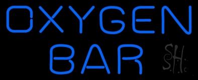 Blue Oxygen Bar Neon Sign