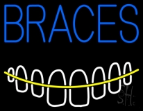 Braces With Teeth LED Neon Sign