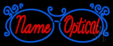 Custom Optical With Glasses Logo LED Neon Sign