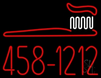 Dentist Brush Logo With Phone Number LED Neon Sign