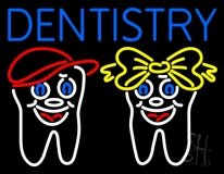 Dentistry With Teeth Logo LED Neon Sign