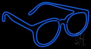 Double Stroke Glasses Logo LED Neon Sign