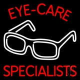 Eye Care Specialist With Glasses Logo LED Neon Sign