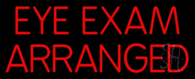 Eye Exam Arranged LED Neon Sign