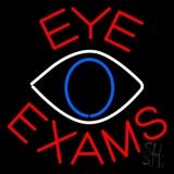 Eye Exams With Eye Logo LED Neon Sign
