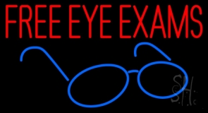Free Eye Exams LED Neon Sign