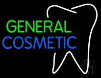 General Cosmetic With Tooth Logo LED Neon Sign