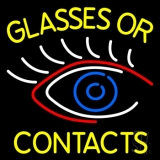 Glasses Or Contacts Eye Logo LED Neon Sign