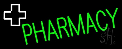 Green Pharmacy With Plus Logo LED Neon Sign