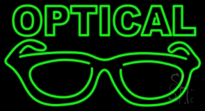 Optical With Glass Logo LED Neon Sign